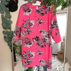ASOS Pink and Black Floral Dress